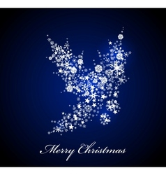 Christmas card Blue Holly vector image