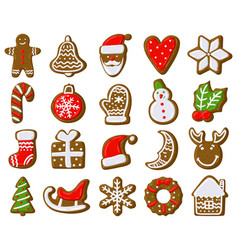 christmas gingerbread cookies holiday treat vector image
