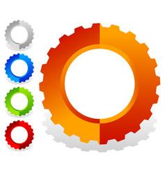 Colorful gearwheel cogwheel gear shapes for vector