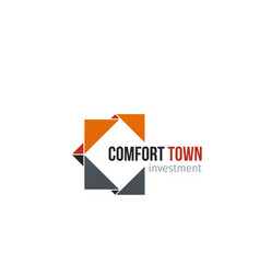 Comfot town investment letter c icon vector