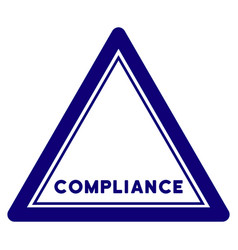 Compliance triangle seal template vector