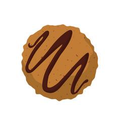 cookie snack dessert vector image vector image