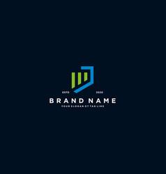 Creative letter j financial chart logo design vector