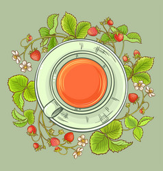 cup of strawberry tea vector image