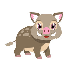 cute boar lovely animal cartoon character vector image
