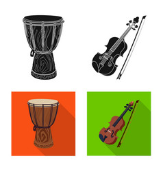Design of music and tune symbol collection vector