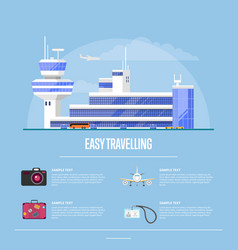 easy traveling concept for travel agency vector image