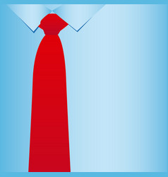 Elegant tie shirt icon vector