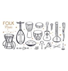 Ethnic folk music festival poster vector