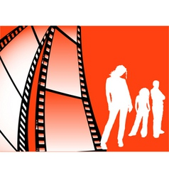 film strip youth vector image