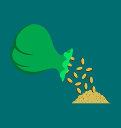 Flat icon on theme arabic business bag of coins vector