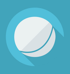 Flat modern design with shadow inflatable ball vector