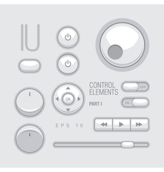 Flat Web UI Elements Design Gray vector image vector image