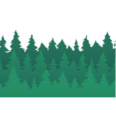 forest fir trees seamless pattern pine silhouette vector image