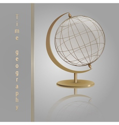 Golden Globe glass vector image