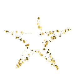 Golden star banner simple form template card vip vector