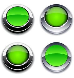 Green 3d buttons vector