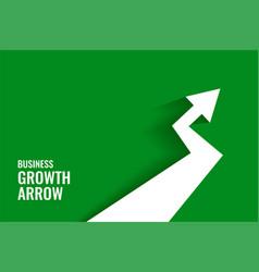 Green growth arrow showing upward trend background vector