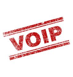 Grunge textured voip stamp seal vector