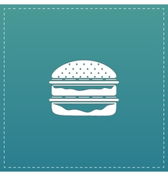 Hamburger web icon vector