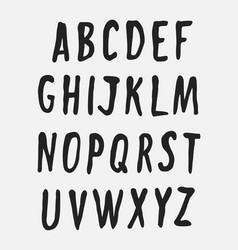 handwritten alphabet uppercase letters vector image