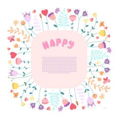 happy greeting card template with text space vector image