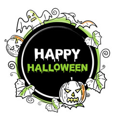 happy halloween icon or banner vector image