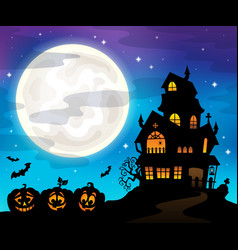 Haunted house silhouette theme image 6 vector