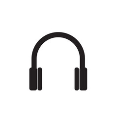 headphone icon graphic design template vector image