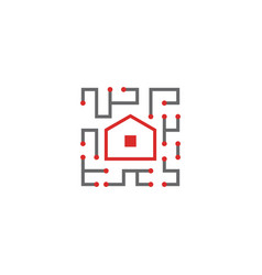 home technology logo design inspiration vector image