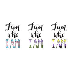 i am who i am vector image