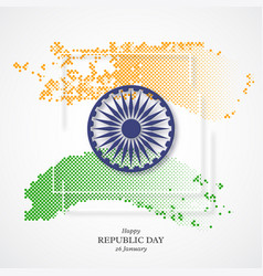Indian republic day holiday background vector