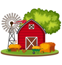 isolated rural farm landscape vector image