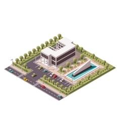 isometric office building icon vector image