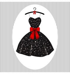Little black dress on a hanger vector image