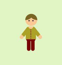 Little boy kid child cute boy vector