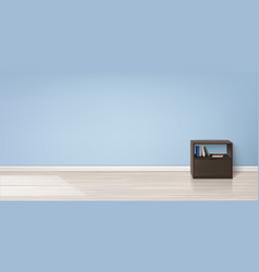 Mockup of empty room minimalistic interior vector