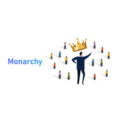 Monarchy form government with a monarch king vector
