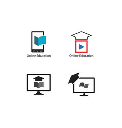 Online education schooling vector