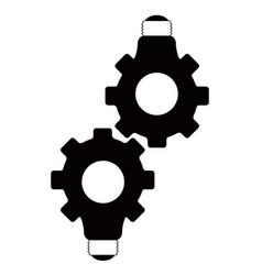 Pair of gear lightbulbs vector