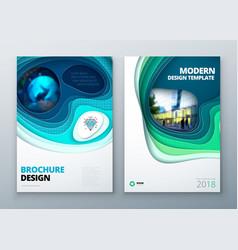 paper cut brochure design paper carve abstract vector image