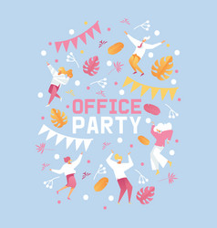 pastel colors poster or booklet for office party vector image