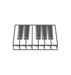 Piano keyboard isolated on white background vector