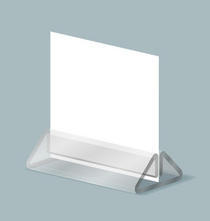 Plastic stand organizer office display acrylic vector