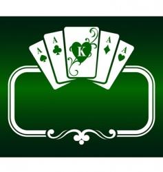 poker frame vector image