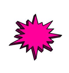 pop art comic text speech bubble vector image