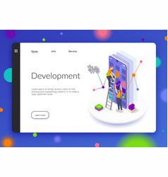 programming coding development isometric banner vector image