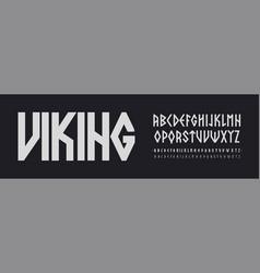 scandinavian font nordic runes style letters vector image