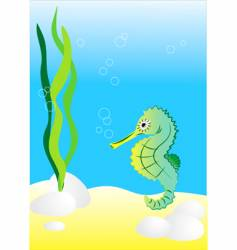 seahorse illustration generated on co vector image