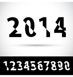 Set cut alphabet numbers vector